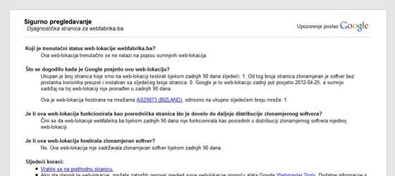 Google Safe Browsing kako očistiti web stranicu od virusa ? Kako očistiti web stranicu od virusa ? google