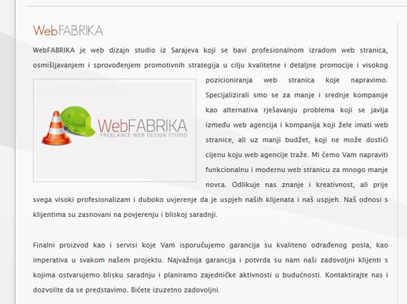 Originalni tekst sa linka O NAMA / WebFABRIKA krađa intelektualnog vlasništva Krađa intelektualnog vlasništva 1