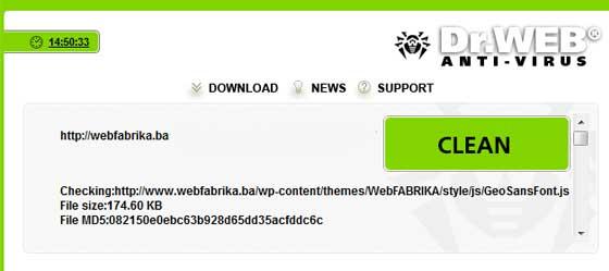 Dr.Web Online Check kako očistiti web stranicu od virusa ? Kako očistiti web stranicu od virusa ? dr web