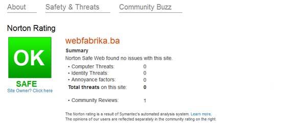 Norton Safe Web  kako očistiti web stranicu od virusa ? Kako očistiti web stranicu od virusa ? norton