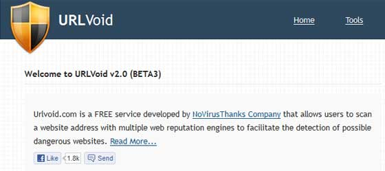 URLVoid.com kako očistiti web stranicu od virusa ? Kako očistiti web stranicu od virusa ? url void